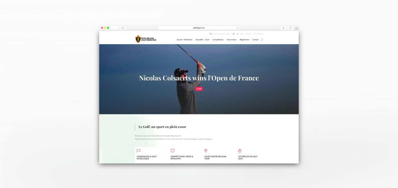 Golf Mockup Page